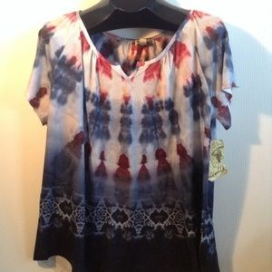 ➕ PLUS 1X NEW ONE WORLD Americana Tie Dye Tee
